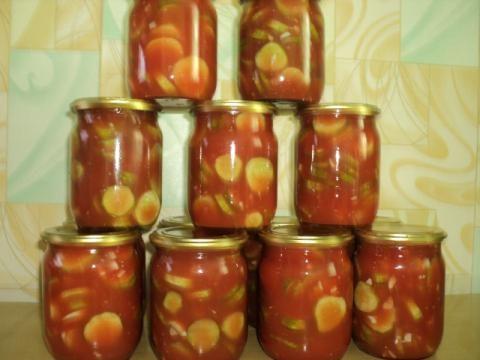 огірки в томатної заливки рецепт