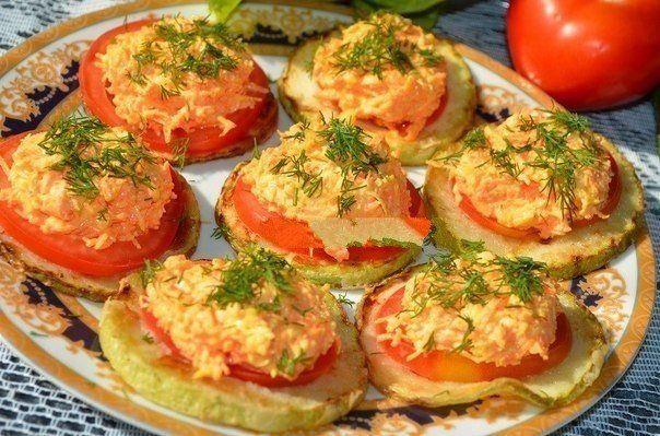Як готувати закуску з кабачка з помідором?