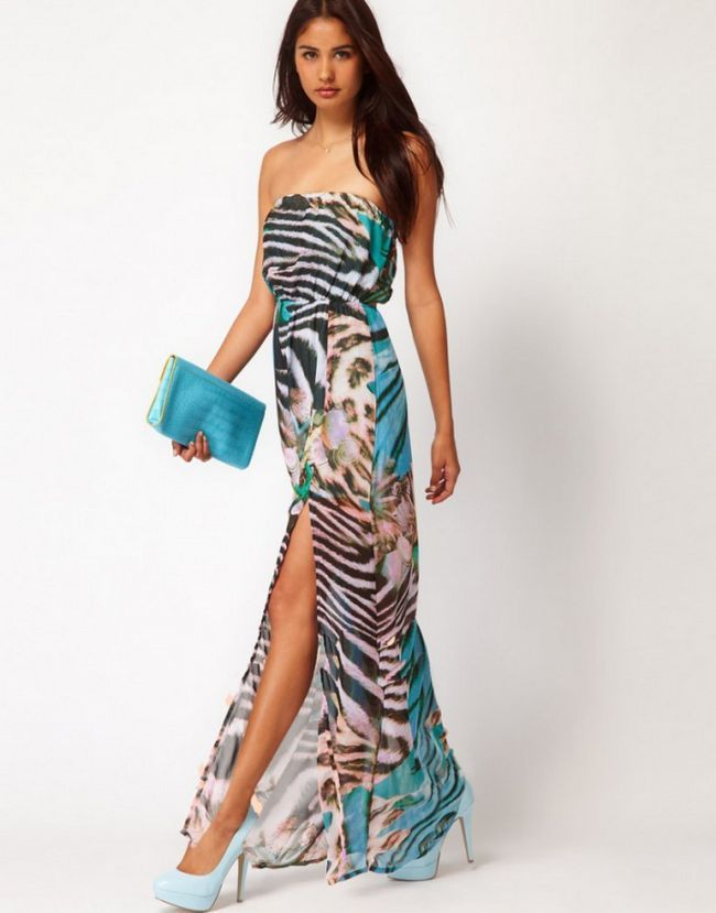 Як носити довге плаття