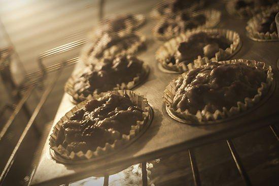Як зробити кекси з чорницею