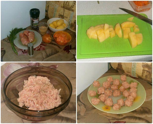Підготовка продуктів для супу