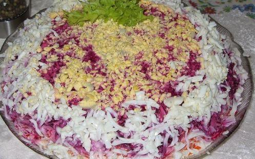 креветки під шубою салат