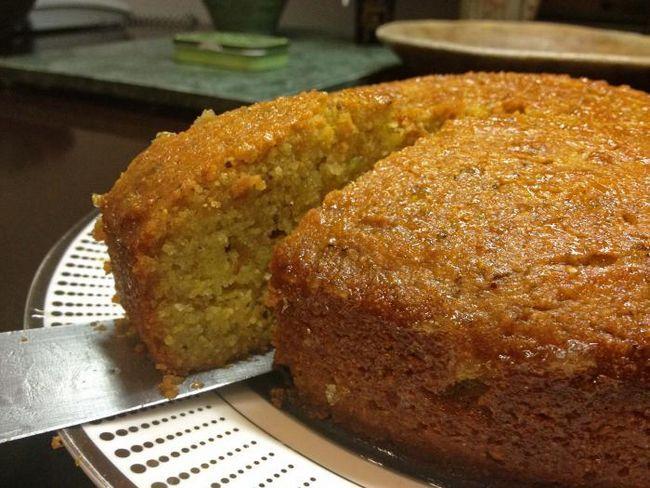 манний пиріг на кефірі рецепт
