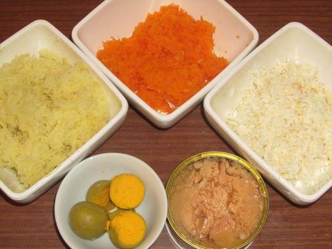 салат мімоза з тунцем рецепт