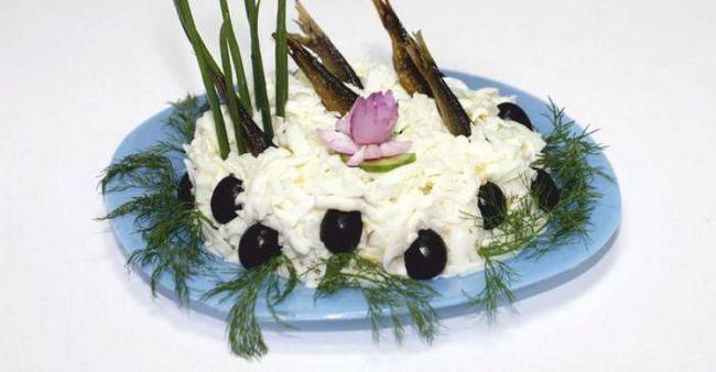 салат рибка в ставку рецепт з фото