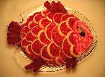 салат у вигляді рибки