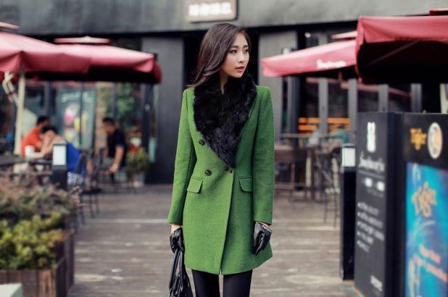 Зелене пальто - один з яскравих трендів 2014 року
