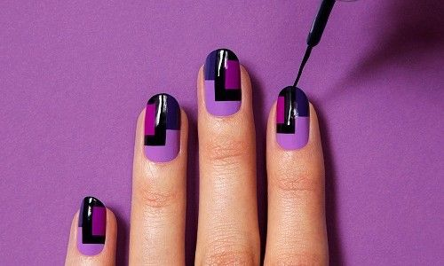 Манікюр в фіолетовому кольорі