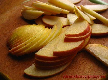 яблука нарізані