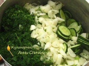 Огірковий салат з кропом