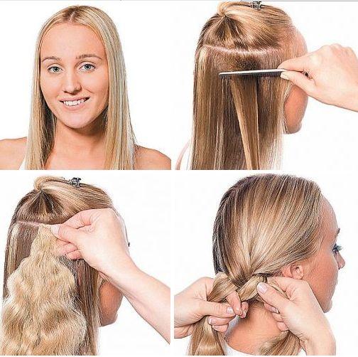 Зачіски з накладними пасмами на шпильках для яскравого образу: фото і покрокові інструкції додаються