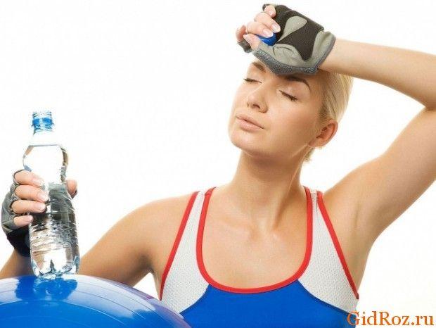 Сильно потієте при заняттях спортом?