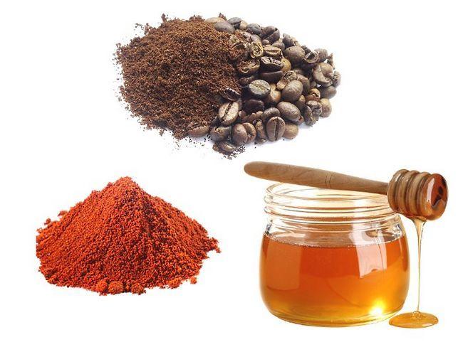 Кава, мед і червоний мелений перець
