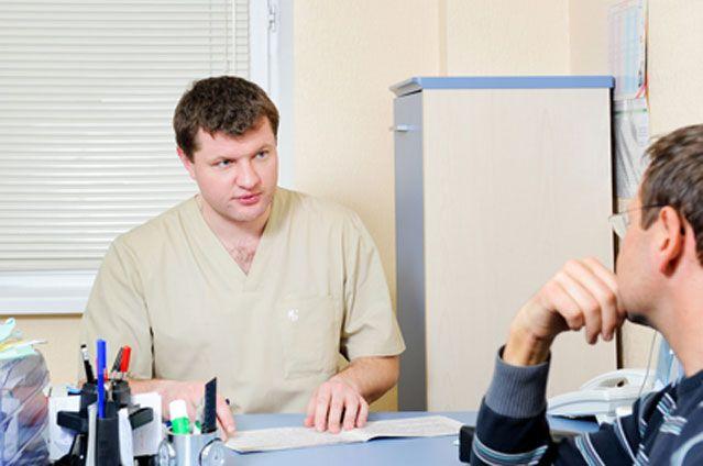 Звернення чоловіка до лікаря