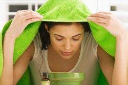 Очищення обличчя за допомогою парової ванночки