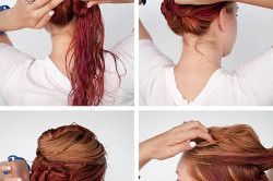 Плетіння потрійного пучка з волосся